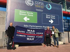 banner in the sun, war causes climate change, climate change causes war